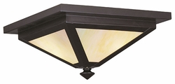 Livex Montclair Mission Outdoor Ceiling Fixture - Bronze 2148-07