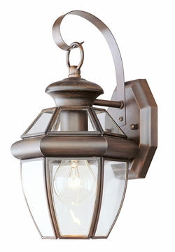 "Livex Monterey 12.5"" Outdoor Wall Sconce Lighting - Imperial Bronze 2051-58"