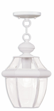 "Livex Monterey 12.75"" Outdoor Hanging Light Fixture - White 2152-03"