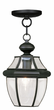 "Livex Monterey 12.75"" Outdoor Lighting Pendant - Black 2152-04"