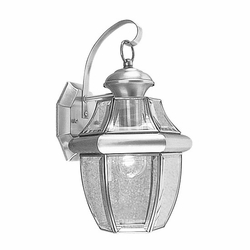 "Livex Monterey 13"" Exterior Light Sconce - Brushed Nickel 2151-91"