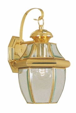 "Livex Monterey 13"" Exterior Light Sconce - Polished Brass 2151-02"