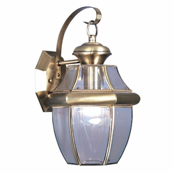 "Livex Monterey 13"" Outdoor Wall Light - Antique Brass 2151-01"