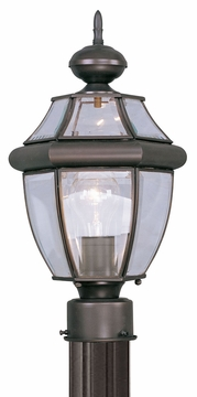 "Livex Monterey 15.75"" Exterior Light Post - Bronze 2153-07"