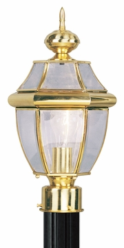 "Livex Monterey 15.75"" Outdoor Light Post - Polished Brass 2153-02"