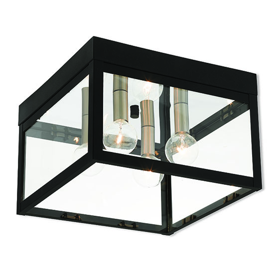 Nyack 105 outdoor flush mount light black 20589 04 livex nyack 105 outdoor flush mount light black 20589 04 workwithnaturefo