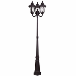 "Livex Oxford 87"" Post Light Fixture - Bronze 7866-07"