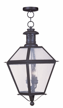"Livex Waldwick 23"" Hanging Outdoor Light - Bronze 2049-07"