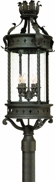 Los Feliz Traditional Old Bronze Outdoor Lighting Post Lamp by Troy P9634OBZ