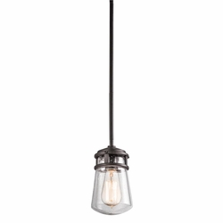 "Lyndon 9.5"" Outdoor Hanging Lighting By Kichler - Bronze 49446AZ"