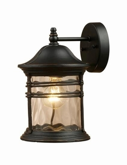 "Madison 14"" Exterior Wall Lighting By Landmark Lighting - Black 08162-MBG"