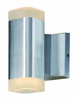 "Maxim Lightray LED 6.75"" Oudoor Lighting Sconce - Aluminum 86132AL"