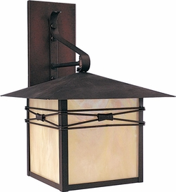 "Maxim Taliesin 16.5"" Outdoor Wall Lantern - Burnished 8042"