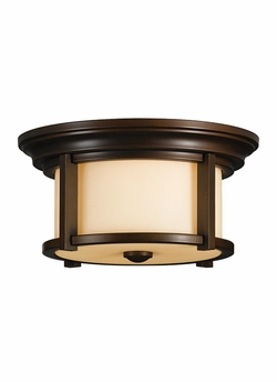 Merrill Outdoor Flush Mount Light By Murray Feiss - Transitional OL7513HTBZ