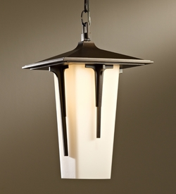 """Modern Prairie Large 15"""" Large Outdoor Pendant Light By Hubbardton Forge - Transitional 365710"""