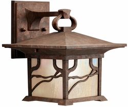 """Morris 9.5"""" Asian Exterior Wall Lighting Fixture by Kichler 9025DCO"""