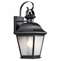 "Mount Vernon 16.75"" Outdoor Wall Lantern By Kichler - Black 9708BK"