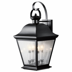 "Mount Vernon 27.75"" Outdoor Wall Lighting Fixture By Kichler - Black 9704BK"
