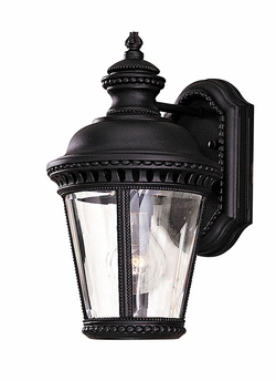 """Murray Feiss Castle 11.75"""" Outdoor Wall Sconce - Black OL1900BK"""