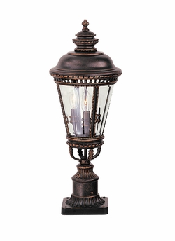 "Murray Feiss Castle 22.25"" Outdoor Post Lighting Fixture - Bronze OL1907GBZ"