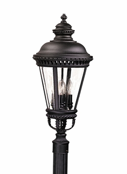 "Murray Feiss Castle 28.25"" Outdoor Post Light - Black OL1908BK"