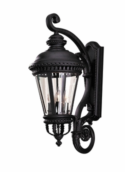 "Murray Feiss Castle 31"" Outdoor Wall Light - Black OL1904BK"