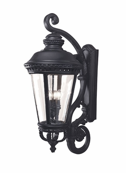 "Murray Feiss Castle 37"" Outdoor Wall Lantern - Black OL1905BK"