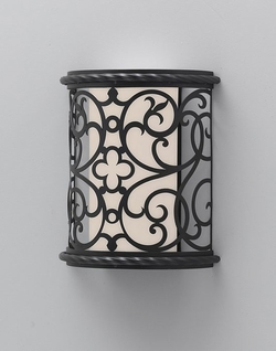 Murray Feiss Costa Del Luz 9.5 Inch Outdoor Wall Lighting Fixture - Black ODWB4820BK