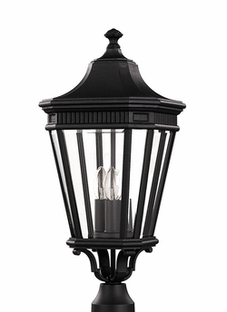 "Murray Feiss Cotswold Lane 22.5"" Outdoor Lighting Post Lamp - Traditional OL5407BK"