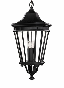 "Murray Feiss Cotswold Lane 26.5"" Hanging Outdoor Light - Traditional OL5412BK"