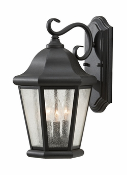 "Murray Feiss Martinsville 17"" Outdoor Wall Sconce Lighting - Black OL5902BK"