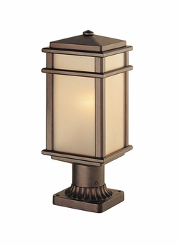 "Murray Feiss Mission Lodge 16"" Outdoor Post Light OL3407CB"