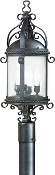 Pamplona Traditional Fluorescent Outdoor Lighting Post Lamp by Troy PF9123OBZ