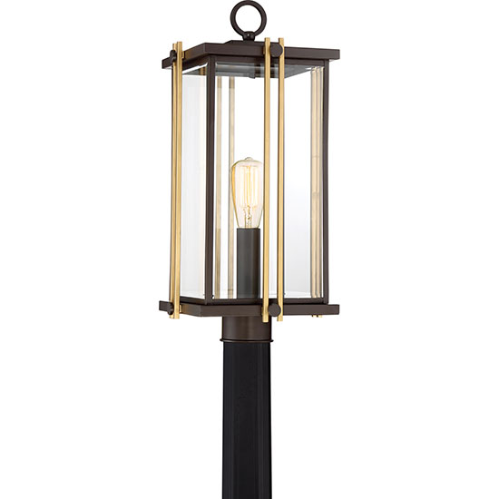 Quoizel goldenrod exterior post light bronze gld9010wt mozeypictures Images