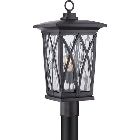 Quoizel grover outdoor post light fixture black gvr9010k aloadofball Choice Image