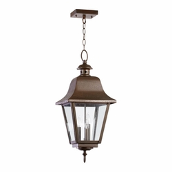 Quorum Bishop Outdoor Pendant Light 7031-3-86