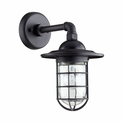 "Quorum Bowery 12.25"" Exterior Wall Light - Noir 7082-69"
