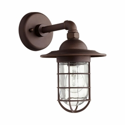 "Quorum Bowery 12.25"" Outdoor Wall Lighting Fixture - Bronze 7082-86"