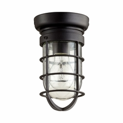 Quorum Bowery Outdoor Ceiling Light Fixture - Noir 7282-69