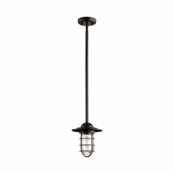 Quorum Bowery Outdoor Pendant Lamp - Noir 7182-69