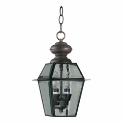 "Quorum Duvall 13"" Hanging Outdoor Light - Clear 728-2-36"