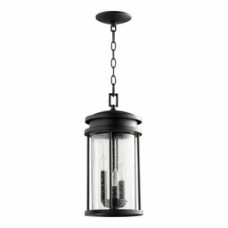 "Quorum Hadley 17"" Hanging Outdoor Light - Bronze 7111-3-69"