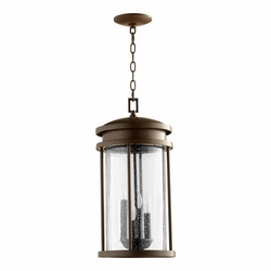 "Quorum Hadley 20.75"" Outdoor Pendant Lamp - Bronze 7111-4-86"