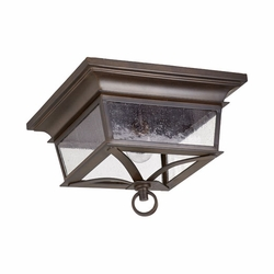Quorum Pavilion Outdoor Flush Mount Light - Bronze 3730-14-86
