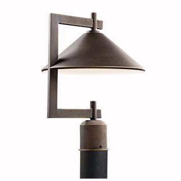Ripley Dark Sky Outdoor Post Light In Olde Bronze By
