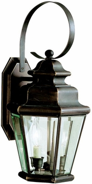 "Savannah Estates 19.25"" Exterior Wall Light By Kichler - Bronze 9676OZ"