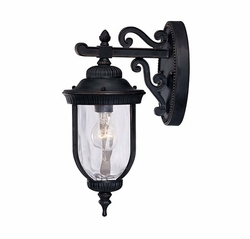 "Savoy House Castlemain 16"" Outdoor Wall Lantern - Black 5-60320-186"