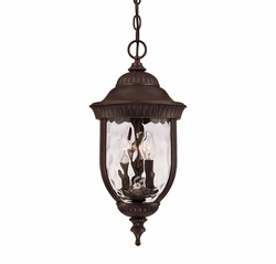 Savoy House Castlemain Outdoor Pendant Light - Walnut 5-60328-40