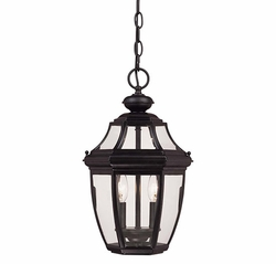 Savoy House Endorado Outdoor Pendant Light Fixture - Black 5-494-BK
