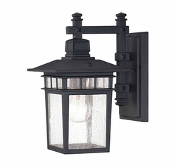 "Savoy House Linden 12.5"" Outdoor Wall Mount - Black 5-9590-BK"